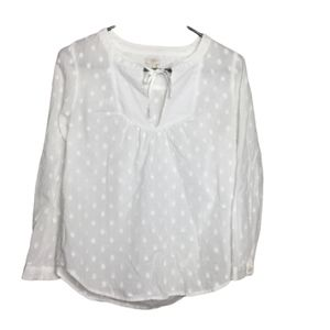 J.Crew White Long Sleeve Blouse Size Small